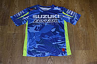 Футболка Suzuki голубой камуфляж