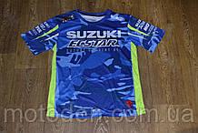 Футболка Suzuki блакитний камуфляж