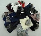 М 6154 Шапка и шарф хомут теплый , разные цвета, фото 3