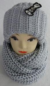 Комплект женский шапка и шарф хомут м 6162 Vivatricko , разные цвета