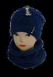 Комплект женский шапка и баф м 7020 Vivatricko , разные цвета, фото 2