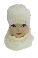 Комплект женский шапка и баф м 7020 Vivatricko , разные цвета