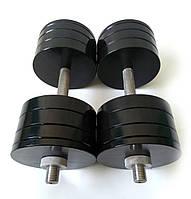 Гантелі металеві 2 шт по 34 кг
