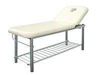 Массажный стол стационарный 2-х секционный мод. 219 белый кушетка для массажа, для косметологии, для депиляции
