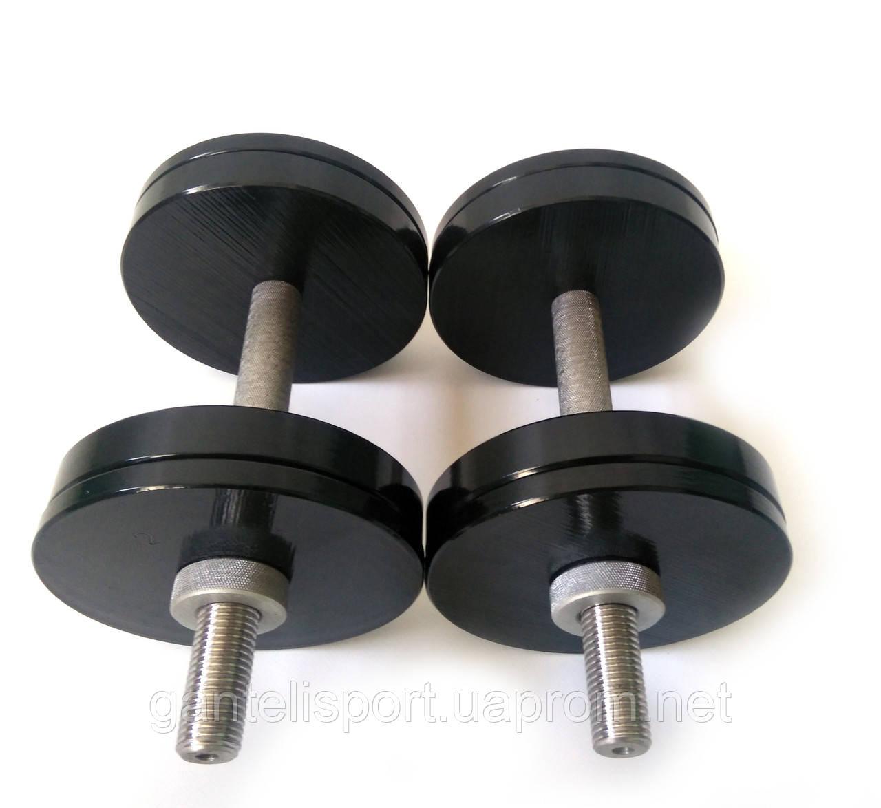 Гантели металлические 2 шт по 14 кг