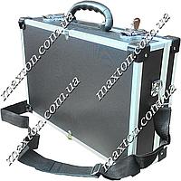 Ящик, чемодан, кейсдля инструмента, рыбалки, косметики и мелочей алюминиевый с замком425х285х120 мм Htools