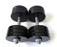 Гантели металлические 2 шт по 28 кг