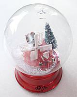 Новогодний Сувенир Музыкальный Снежный Шар на Подставке 18/18, фото 1
