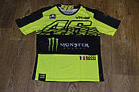Футболка VR46 Valentino Rossi Мonster Energy лимонного цвета