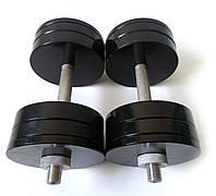 Гантели стальные 2 шт по 24 кг