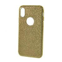 Силиконовый чехол Usams Bling для iPhone X Gold