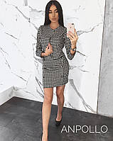 Женский костюм с жакетом и мини юбкой мод 815