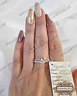 """Серебряное кольцо """"Корона 2-14"""" с золотом"""