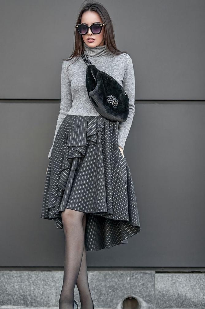 Асимметричное женское платье