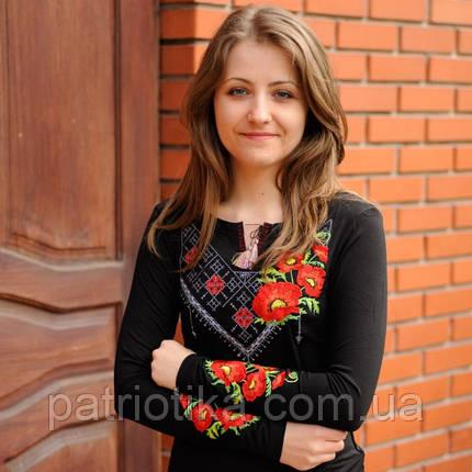Женская футболка вышиванка гладью Мак | Жіноча футболка вишиванка гладдю Мак, фото 2