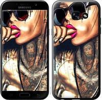 "Чехол на Samsung Galaxy A5 (2017) Девушка в тату ""4001c-444-16187"""