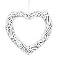 """Плетеная заготовка для декора """"Сердце"""" 35 см (основа для цветочных композиций) лоза, фото 1"""