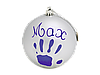 Бебі Арт  Рождественский шар Baby Art 11 см Серебристый