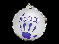 Бебі Арт  Рождественский шар Baby Art 11 см Серебристый , фото 1