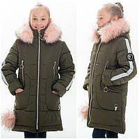 """Зимнее пальто  для девочки """"Леся-1"""" (122-152р)., фото 1"""