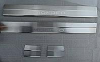 Накладки на пороги Ford Mondeo IV 2007- 4шт. Standart, фото 1