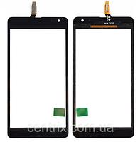 Тачскрин (сенсор) для Microsoft 535 Lumia Dual Sim (RM-1090) (CT2S1973FPC-A1-E), черный, оригинал