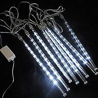 Новогодняя Светодиодная Гирлянда Тающие Сосульки LED 30 см 8 шт 3 х 0.3 м Белые, фото 1