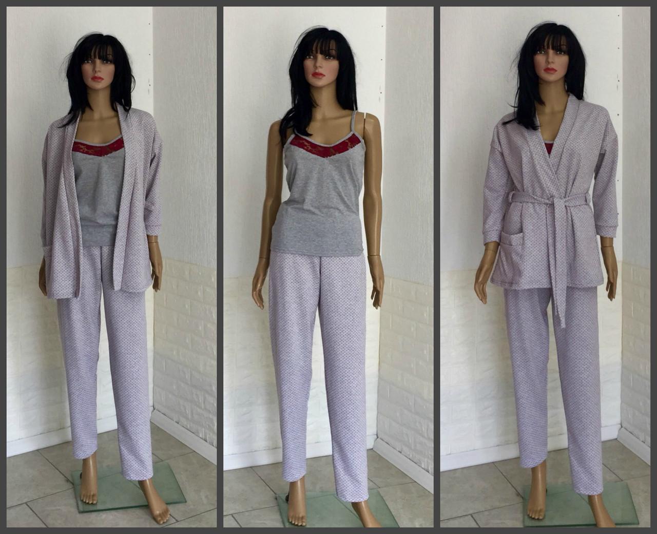 Пижама с брюками, тройка