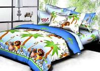 Комплект постельного белья подростковый детский Вилюта Мадагоскар