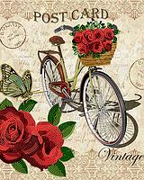 """Заготовка для вишивки бісером картина """"Велосипед"""" 32х26 см"""