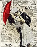 """Заготовка для вишивки бісером картина """"Поцілунок"""" 32х26 см"""