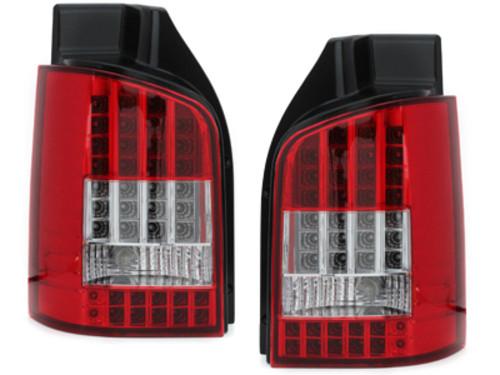Стопы фонари тюнинг оптика Volkswagen T5 красные Led (Ляда)