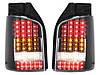 Стопы фонари тюнинг оптика Volkswagen T5 черные Led (ляда), фото 3