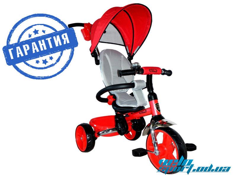 """Детский трехколесный велосипед Azimut (T-300 """"AL'')красный рама металик"""
