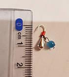 Мормишка вольфрам 3 котяче око крапля (для зимової риболовлі) 0,5 г, фото 2