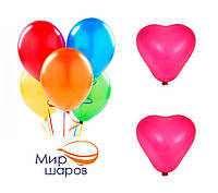 """Шарики набор """"Два сердца"""", цена за уп. в уп. 7шт., в пак. 15*13см, ТОВ """"Мир шаров"""""""