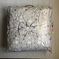 """Постельный набор в детскую кроватку (8 предметов) Premium """"Звездочка"""" серый"""