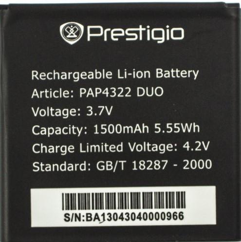 Аккумулятор для телефона Prestigio PSP4322
