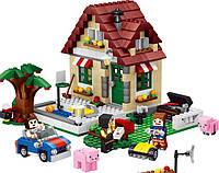 Конструктор Lele 33016 «Времена года 3в1»  (аналог Lego Майнкрафт, Minecraft 31038), 569 деталей