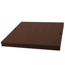 Крышка дождеприемника 300х300 ZMM MAXPOL пластиковая коричневая