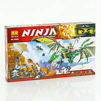 """Конструктор """"Ninjago"""" BELA """"Зелённый дракон"""", 603дет., в кор. 53*30,5*6см (18шт/2)"""