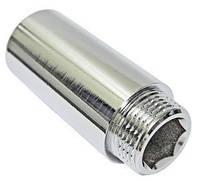 """Фитинг резьбовой – удлинитель хромированный 1"""" х 15 мм"""