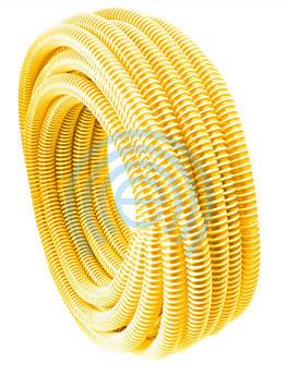 Шланг гофра Evci Plastik вакуумна жовта діаметр 25 мм, довжина 25 м