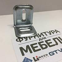 Уголок металлический  Регулируемый  30*25*1,0 мм У.07