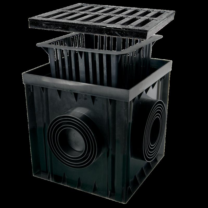 Дощоприймач 300х300 з чавунною решіткою В125 ZMM-MAXPOL