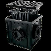 Дождеприемник 300х300 с чугунной решеткой В125 ZMM-MAXPOL