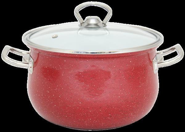 Эмалированная кастрюля INFINITY Red (5 л) 22 см (6367509), фото 2