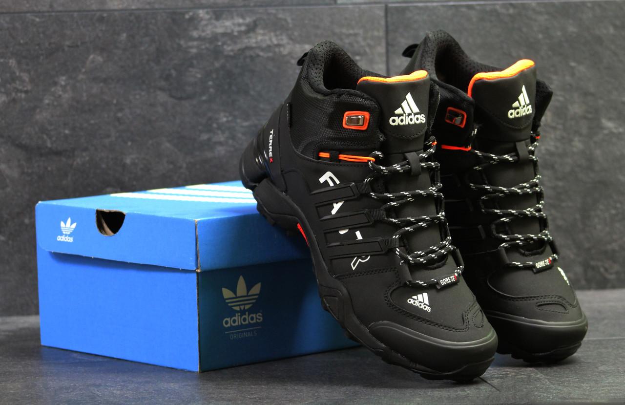 4b6a661c Мужские зимние кроссовки Adidas Terrex Fast R черные с белым ( Реплика  ААА+) -