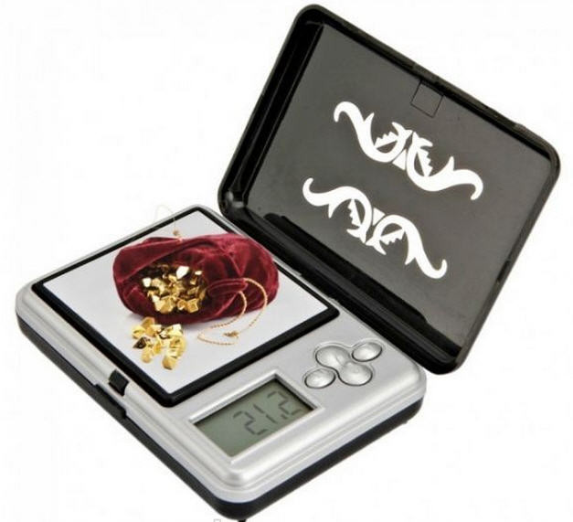 Мини  ювелирные весы до 100(0,01)с чехлом, и зеркальной платформой для взвешивания Карманные (ювелирные, аптеч