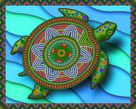 """Заготовка для вишивки бісером картина """"Імператорська черепаха"""" 32х26 см"""